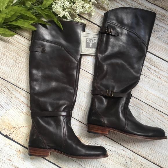 902dc7a7595 Frye DORADO RIDING boots - dark brown - NEW